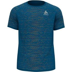 Odlo Blackcomb Ceramicool T-Shirt S/S Crew Neck Men, mykonos blue space dye